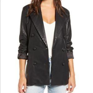 Blanknyc Faux Leather Blazer